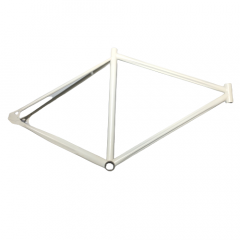 Frame Fixed Gear Cromo/Steel 700c Track White Size: 51cm