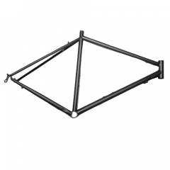 Frame Black No Logo 700c Steel Rim Road Size: L