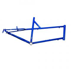 """Frame Blue Mini Velo 26"""" Mixed Steel V-Brake Size: M"""
